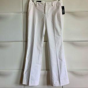NWT Banana Republic Ryan Fit White Trouser Size 10